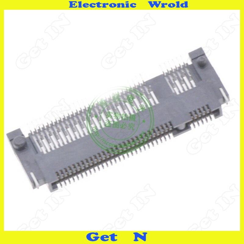 Image 3 - 5 шт. NGFF интерфейс разъем ключ B Shen пластина Тип M.2 розетки Высота 1,5 мм 67Pin с передней вилкой и задней SMD-in Соединители from Товары для дома