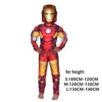 Christmas Boys Muscle Super Hero Captain America SpiderMan Batman Hulk Avengers Costumes And Mask Cosplay For