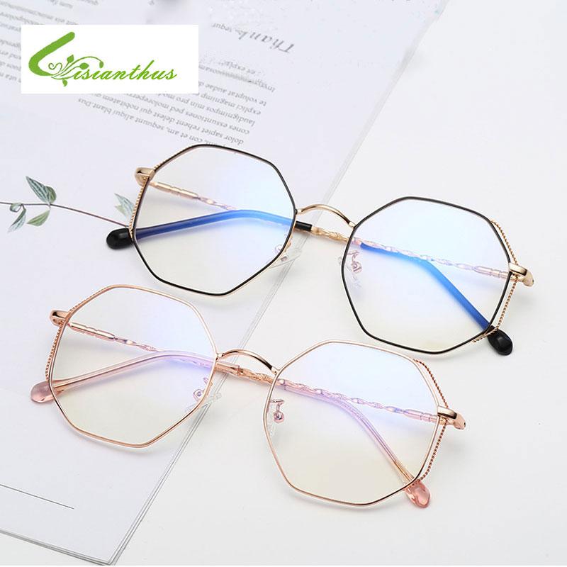 2019 Fashion Women Glasses Frame Men Eyeglasses Frame Vintage Clear Lens Glasses Anti-blue Light Black Silver Gold Eye Glass