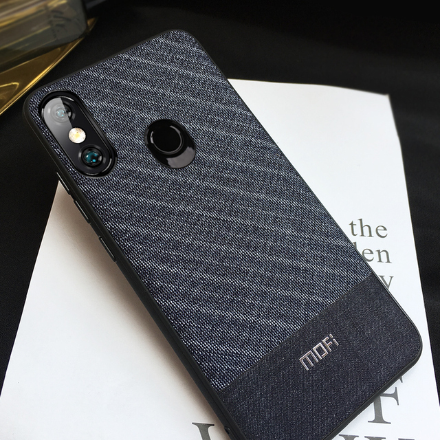 Mofi Xiaomi Redmi Note 6 Pro Fabric Business Style Shockproof Back Case Cover