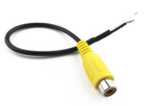 Кабели для автомобилей, аудио и видео, аудио-линия, AV-видео, Rca, женский экранированный провод, видео адаптер
