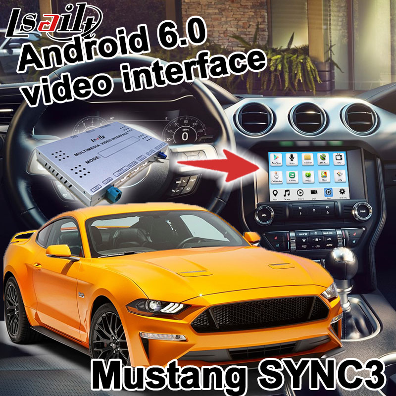 Android navigation box for Ford Mustang etc video interface box SYNC 3 Carplay mirror link waze youtube yandex GPS