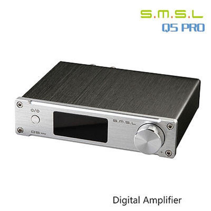 SMSL Q5 Pro Hohe Qualität HiFi 2,0 Reine Hause Audio Power Digital Verstärker Eingang Koaxial Optische USB DAC 45W * 2 Fernbedienung