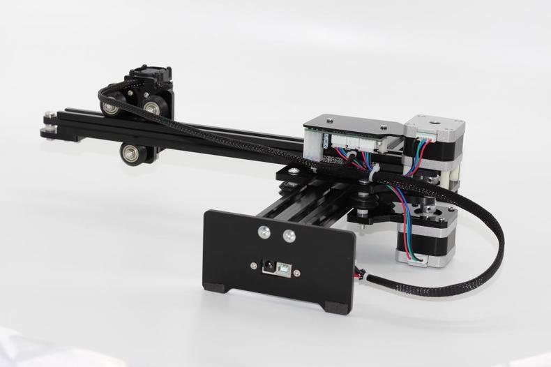 Q baihe Новый 3500 МВт DIY Лазерный Гравер USB Вырезка машина принтера коробка высокого Мощность скоростная Лазерная гравер машина черный