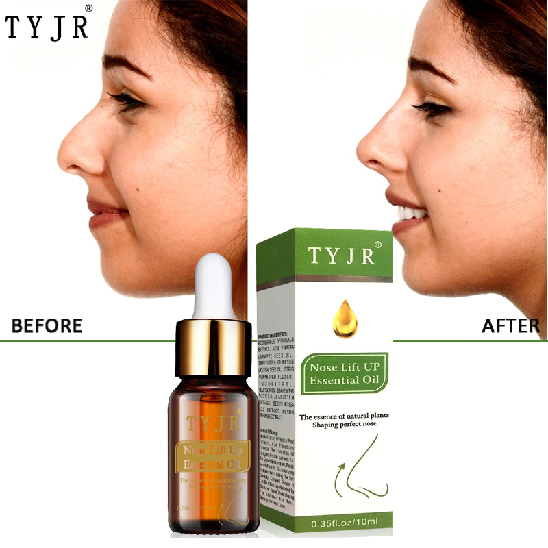 10ML Nose Lift Up Essential Oils Reduce Narrow Thin Nose Cream No Surgery Powerful Nosal Bone Remodeling Plant Oil