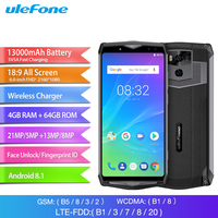 Ulefone Power 5S Mobile Phone 6.0 inch FHD Screen 4GB RAM 64GB ROM MTK6763 Octa Core Android 8.1 13000mAh Face ID Smartphone