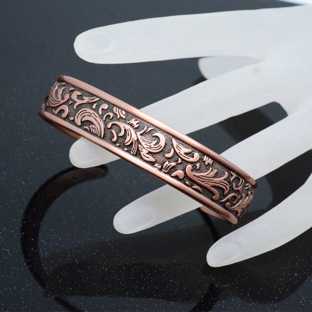 Vintage Copper Bangle Energy Magnetic Healing Bio Bracelet