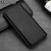 MAKEULIKE Per Huawei Mate 10 Lite Mate 10 Pro Cassa del Cuoio Genuino Pouch Pocket Per Huawei P8 P9 P10 Lite Honor 9 Casi Borse