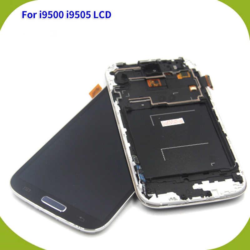 استبدال شاشة عرض ل samsung S4 (i9500 i9505) LCD تعمل باللمس عرض مع محول الأرقام الجمعية الإطار أدوات مجانية