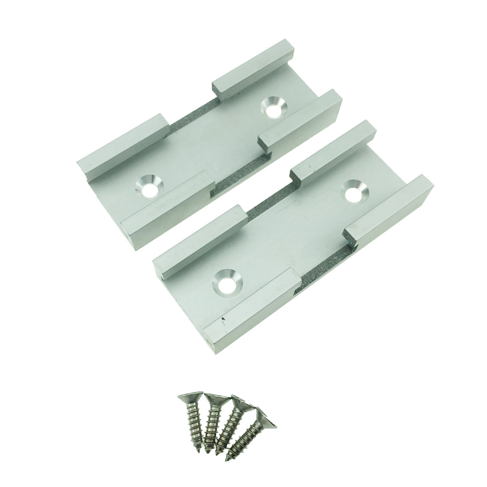 YOFE 2PC T-track Intersection Kit Aluminum T-slot Connecting Parts Woodworking Tools HT1152 ...
