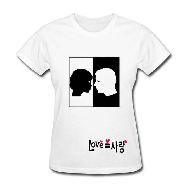 Design Your Own T Shirt And Sell It: Best Sell Girls Slim Fit Tee Love Equal Sarang In Korean Design Your rh:aliexpress.com,Design