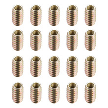 Uxcell 20pcs/lot Furniture Threaded Insert Nut Fasteners Parts Carbon Steel Zinc Plated M8 Internal Thread Length 12/14/20/25mm