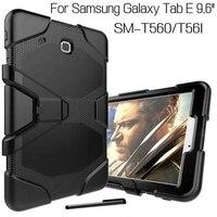 מכירת חמה היברידי עומס כבד סיליקון כיסוי case עבור samsung galaxy tab e t560 t561 אופן בסיסי 9.6 inch tablet case + stylus חינם עט