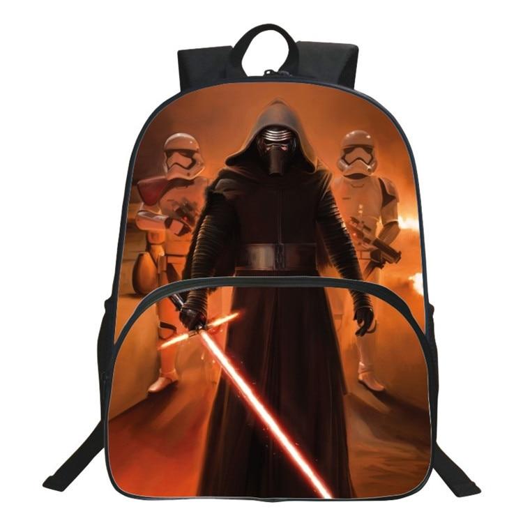 Children 16-inch Mochila Star Wars Schoolbags Boys Children Backpack Teenager Age7-13 Casual Backpack Kids School Bags Star Wars