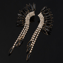 YFJEWE New Fashion Peacock Tassel Rhinestone Earring 3 Color Long Drop Earrings Jewelry Wedding Party Accessories Female E045