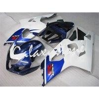 Подходит для Suzuki 2004 2005 GSXR 600 750 обтекателя Пластик Инъекций белого и синего цвета