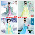 Dolls Accessories dolls chinese Ancient Costume Clothes for 29cm/11.5 inch Kurhn doll Handmade clothing for 1/6 doll Girl Toys