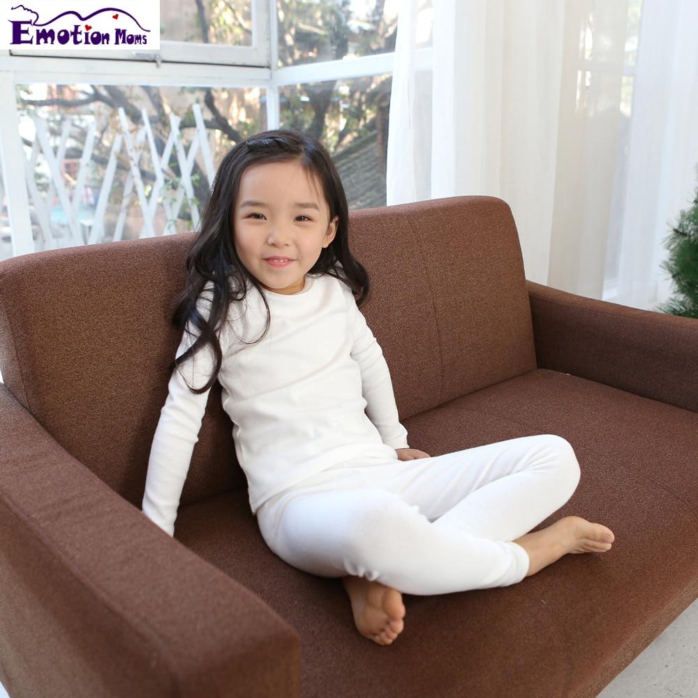 Эмоции мамы детская одежда девушки длинные детей джонс нижнее белье длинная тепловой нижнее белье мальчиков кальсоны для девочек от 2 до 6 л...