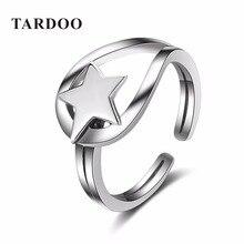 Tardoo Conmemorar de Moda Estrella de Cinco puntas Anillos de Las Mujeres S 925 Sterling Silver Classic Gemelos Anillos de Joyería Fina