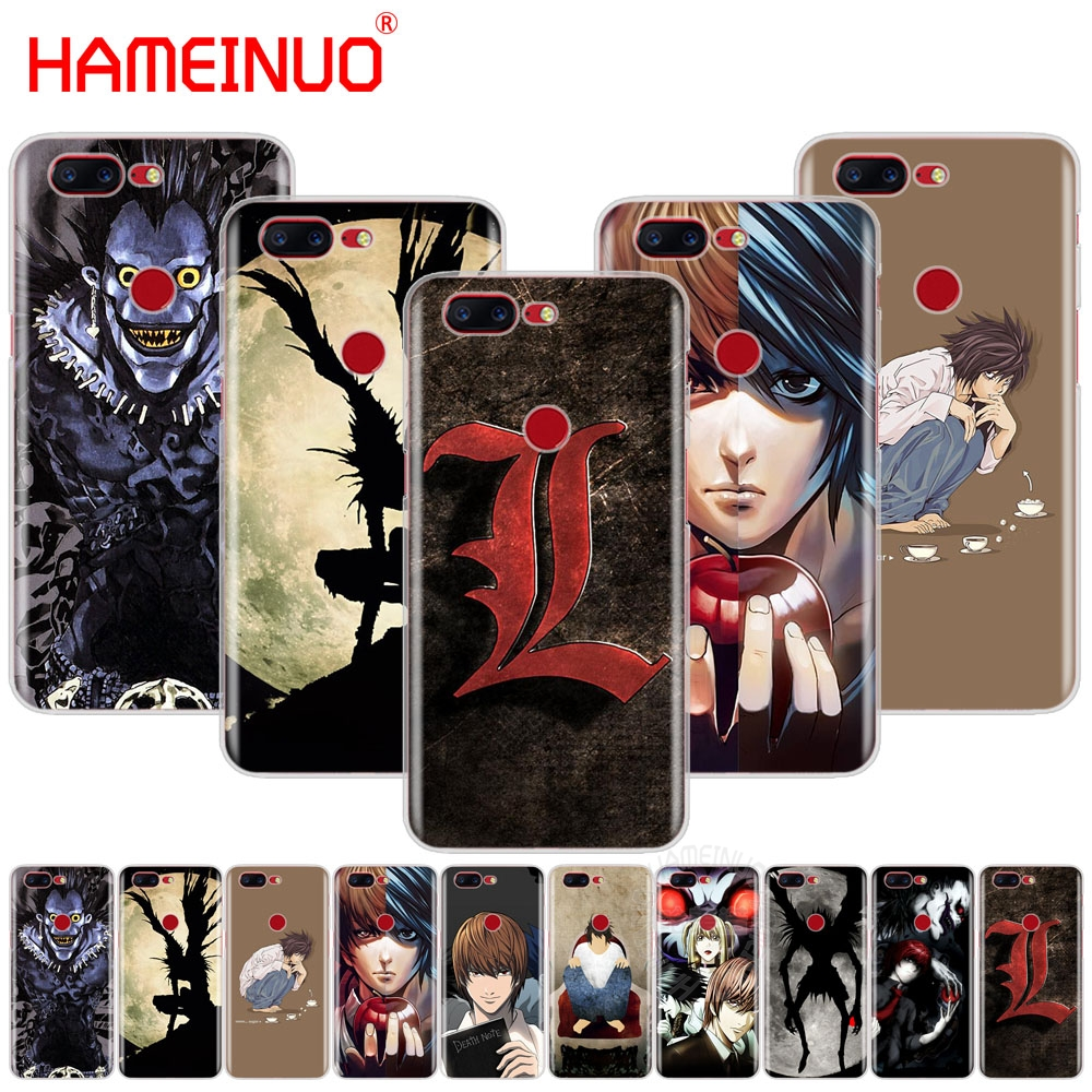 HAMEINUO <font><b>Anime</b></font> Death Note cover phone <font><b>case</b></font> for Oneplus <font><b>one</b></font> <font><b>plus</b></font> 5T 5 3 <font><b>3t</b></font> 2 A3000 A5000 image