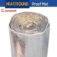 Promo Alfombrilla de 1 rollo de 1000CM X 100CM de Cawanerl para aislamiento acústico de calor de camiones y coches, almohadilla de amortiguación de lámina de aluminio con Control de ruido