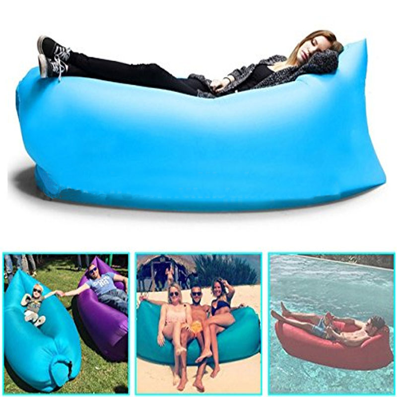 Wholesale 30PCS/PCS Fast Inflatable Air Sofa Lazy Bag Laybag Lounger Chair Sleep sofa Couch Saco de dormir lazy sofa wholesale air ounger bag camping for beach laybag saco de dormir acampamento inflatable kaisr laybag z126