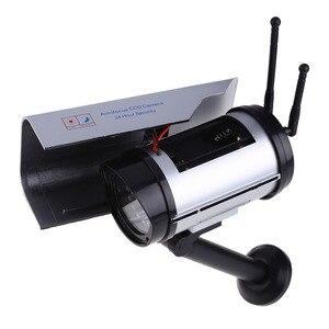 Image 4 - Simülasyon güneş enerjisi sahte kamera kamera yanıp sönen LED ışık kapalı açık ev güvenlik Video gözetim CCTV aksesuarları