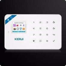 2017 KERUI W18 Wireless WIFI GSM Burglar Security Home Alarm System Android IOS App+Wireless Smoke Detector Wifi Smart Socket