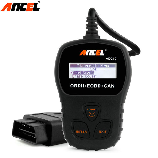 Code Readers Scan Tools Ancel AD210 with Spanish French Multi-language OBDII OBD2 Automotivo Escaner Diagnostic Tool for Cars