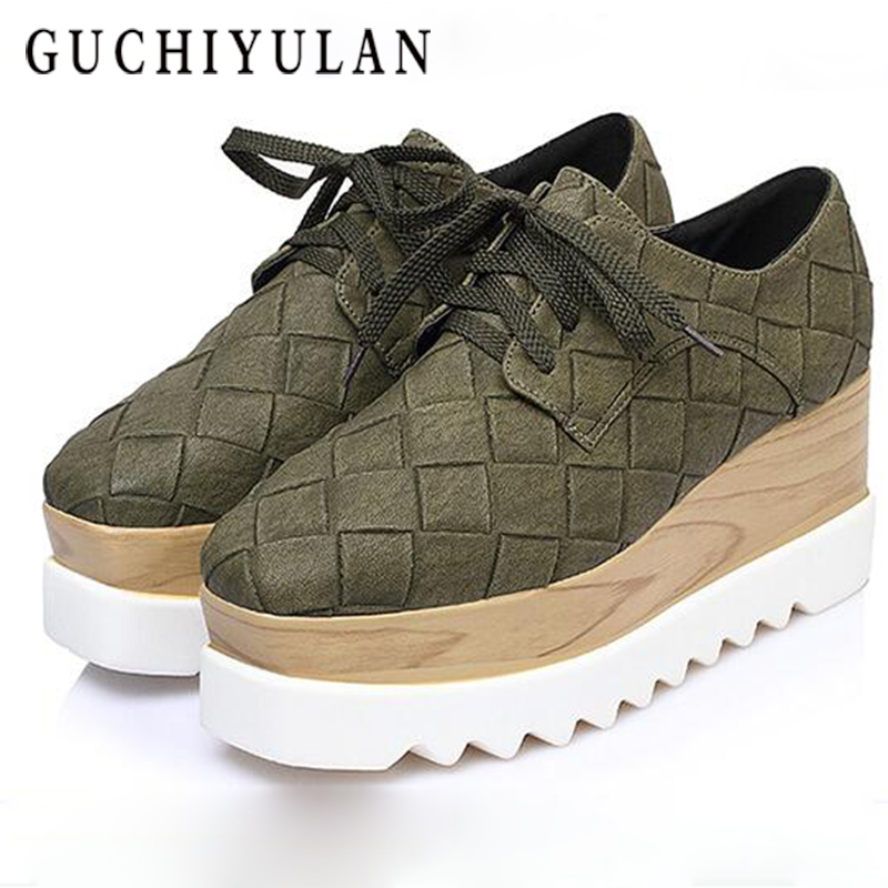 GUCHIYULA Brand Spring Autumn Platform Sneakers Shoes For Women Comfortable Breathable Casual Shoes Women Women Wedges platform