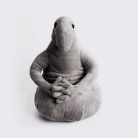 10pcs Waiting Plush Toy Zhdun Meme Tubby Gray Blob Zhdun Plush Doll Toys Homunculus Loxodontus