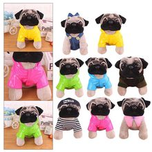 1pcs Little Plush Pendant Lovely Dog Star Toys A Gift For A Friend The Girls The Street Decoration A Birthday Present Pug Toys(China)