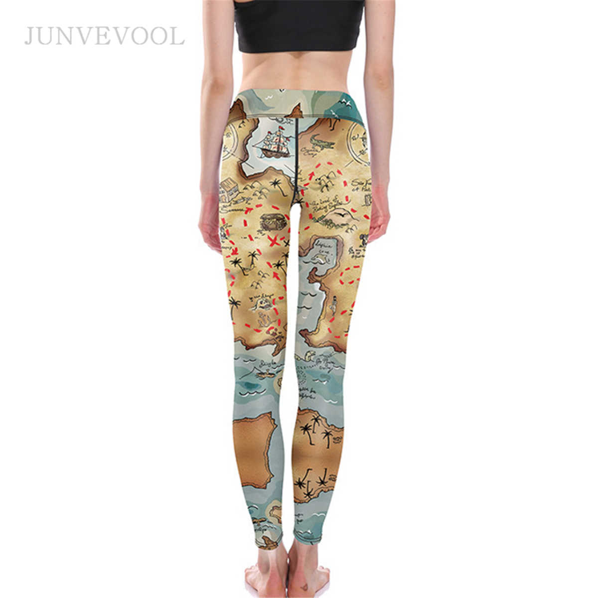 ecf3d7bb7817 ... Vintage Map Digital Printing Women Leggings Stylish Skinny Legging Work  Out Pencil Pant Ladies Vogue Fitness ...