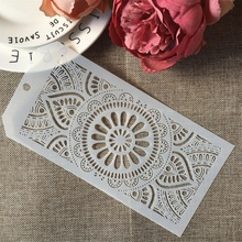 Buy 24*12cm Flower Round Circle Lotus DIY Layering Stencils Wall Painting Scrapbook Coloring Embossing Album Decorative Template directly from merchant!