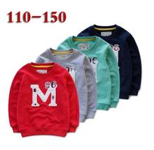 110-150 Children Boys Patch embroidered Terry fleece pullover Kids Baby jumper Primer shirt wholesale
