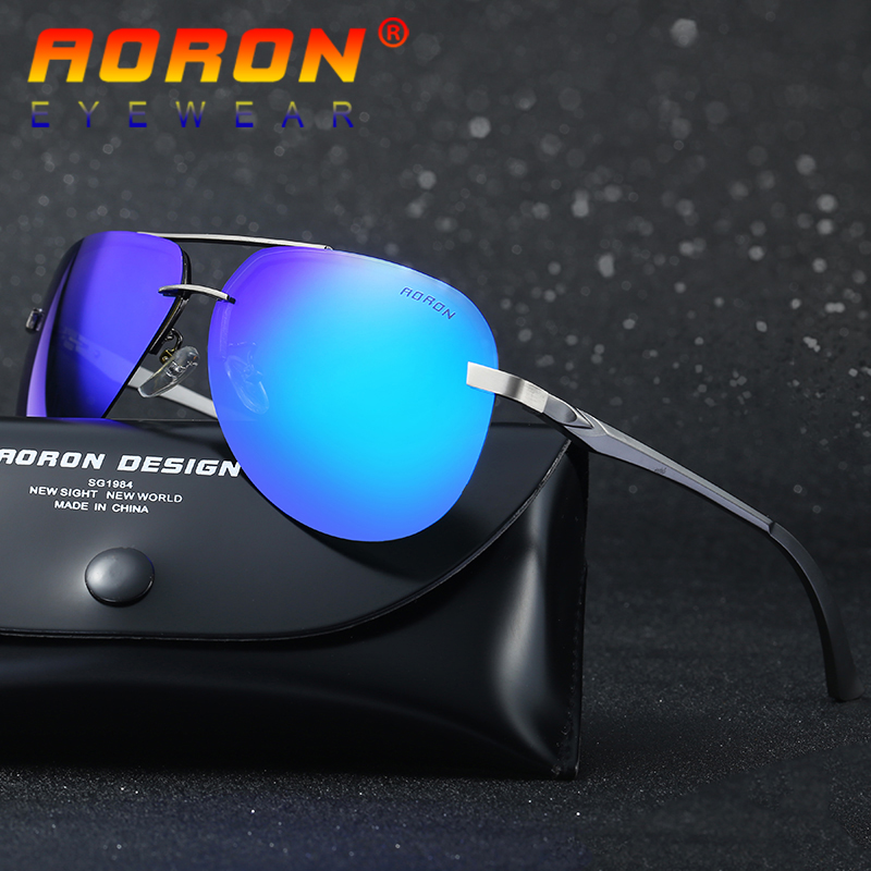 Aoron Brand Designer Driving Polarized Sunglasses Goggles Reduce Glare Classic Sun Glasses Mirror Eyewear A143 For Men/Women