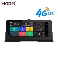 HGDO дюймов 7 дюймов двойной объектив Автомобильный dvr Android 3G зеркало заднего вида DVRS gps Wi Fi автомобильный видео регистратор Автомобильный виде