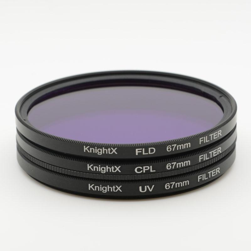 KnightX 52mm 58 67 77mm MM UV CPL FLD Kit de filtro infrarrojo Filtro - Cámara y foto - foto 2