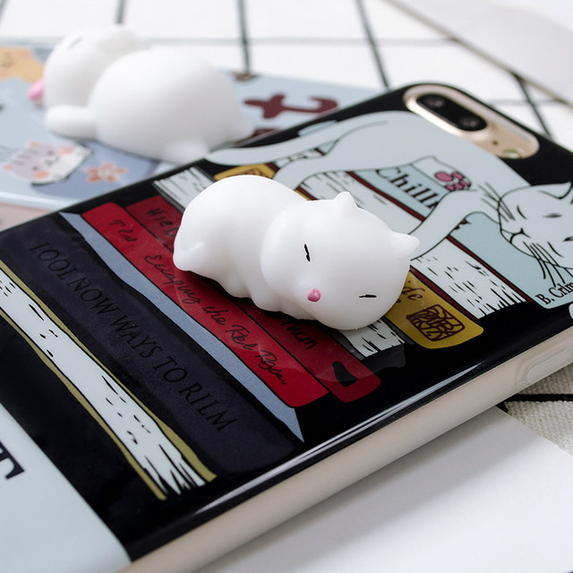 Funny Cute Cat Squishy Phone iPhone Cases