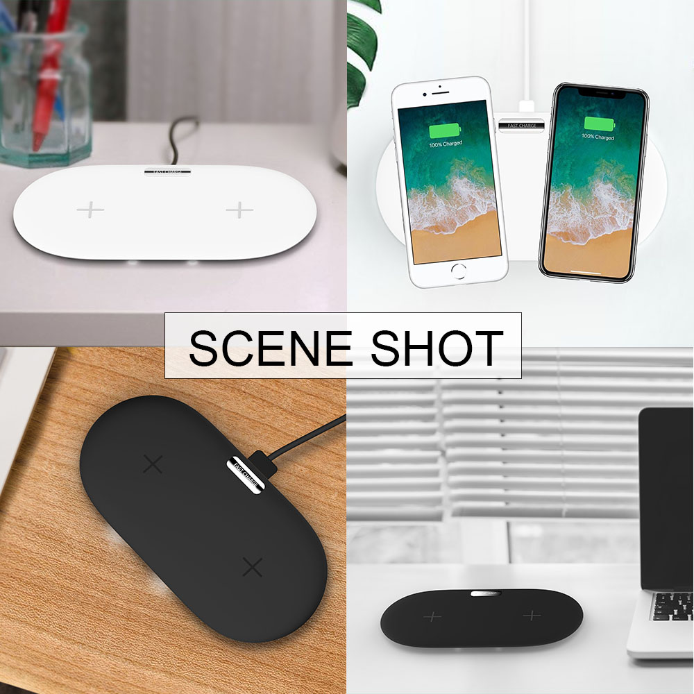 phone 2 in1 Dual QI 10W Wireless Charger Pad for iPhone samsung Nokia Lumia 850 Charging Stand for xiaomi mix 2s huawei mate RS in Mobile Phone Chargers from Cellphones Telecommunications