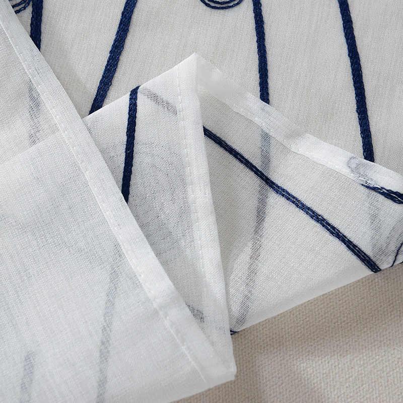 Topfinel природные вышитые занавески для гостиной Спальни элегантный пряжи шторы вышивка белая вуаль шторы Панель Высококачественный тюль для окна