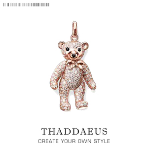 Pendant Rose Gold Teddy Bear,2018 Fashion 925 Sterling Silver Jewelry Thomas Bijoux Fashion Accessories Gift For Ts Woman Girls