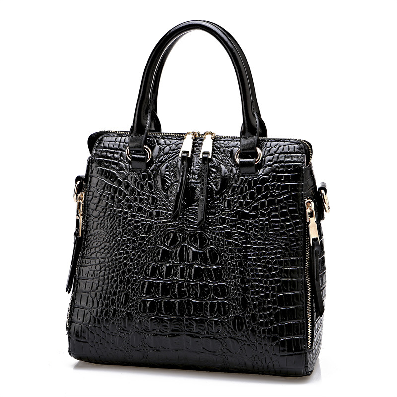Crocodile Leather Handbags Women Famous Brand Shoulder Bag Luxury Designer Women Messenger Bags Sac A Main Femme De Marque A0265 hongu high grade leather handbags crocodile pattern large ladies hand bags luxury purse with shoulder strap sac a main femme