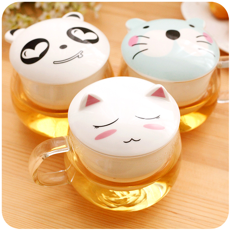 Creative Cute Cartoon Animal Chinese Tea Set Tea Cup with Ceramic Porcelain Filter and Lid 300ml