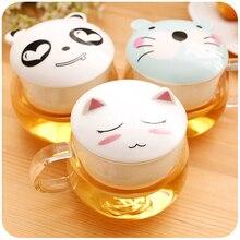 Kreative Niedlichen Cartoon Tier Chinesischen Tee-Set Tee Tasse mit Keramik porzellan Filter und Deckel 300 ml Klar Schönen Becher Glas Teetasse