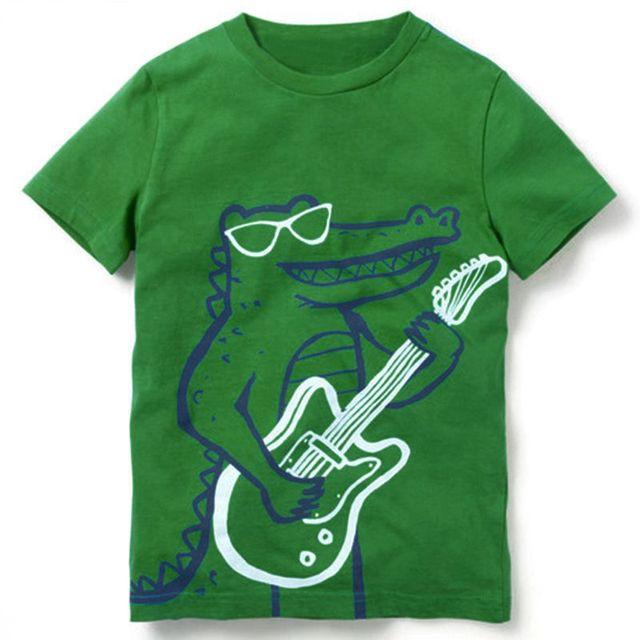 95c95fcbd129d Boy Clothing Children T shirts for Boys 2018 Brand Baby Girls Summer Tops  Tee Shirts Fille Animal Dinosaur Print Kids T-shirts