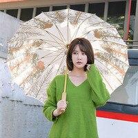 Creative Japanese Umbrella Paper Rain Women Trend Large Long Handle Umbrella Parasol Cute Umbrella Paraguas WZP037 1