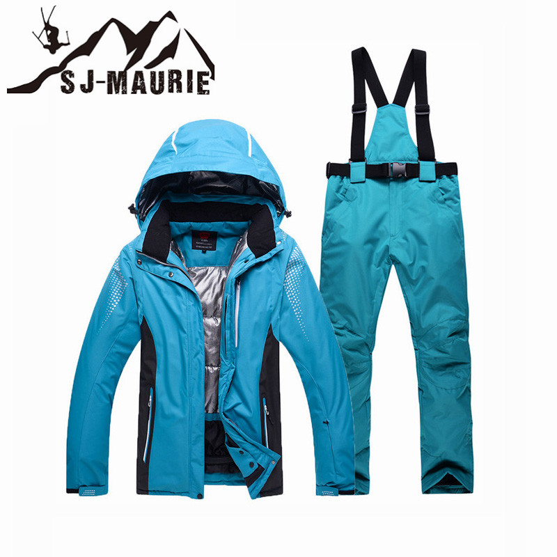 2018 Unisex Ski Suit Waterproof Windproof Snow Pants Jacket Set Winter Sports Thicken Super Warm2018 Unisex Ski Suit Waterproof Windproof Snow Pants Jacket Set Winter Sports Thicken Super Warm
