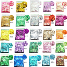 50g Holo Nail Sequin 25 Colors Laser Glitter 1/2/3mm Flakes For Hex Sequins Decoration#