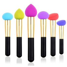 1pcs Professional Cosmetic Makeup Sponge Puff Stick Smooth Round Shaped Powder Tool Hot Sales